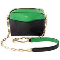 Multico Lancel Block Color Leather Shoulder Bag