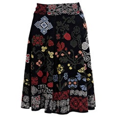 Alexander McQueen Multicolor Stretch-Knit Skirt