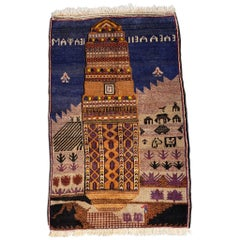 Multi-Color Asian Hallway Area Rug from Afghanistan, Soft / 279
