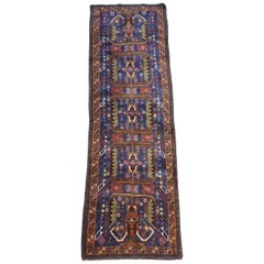 Multi-Color Asian Hallway Runner from Afghanistan, Soft / 007