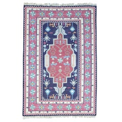 Multi-Color Asian Kilim Carpet from Afghanistan, Thin