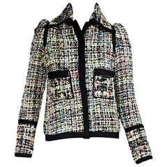 Multicolor Balenciaga Tweed Jacket