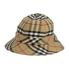 Multicolor Burberry Plaid Cotton Bucket Hat
