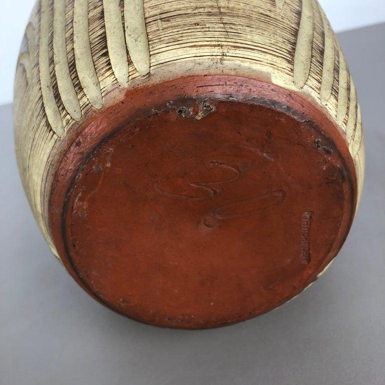Multi-Color Ceramic Pottery Vase, Sawa Ceramic Franz Schwaderlapp, Germany 1960 For Sale 6