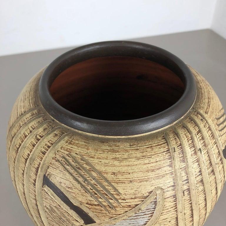 Multi-Color Ceramic Pottery Vase, Sawa Ceramic Franz Schwaderlapp, Germany 1960 In Good Condition For Sale In Kirchlengern, DE
