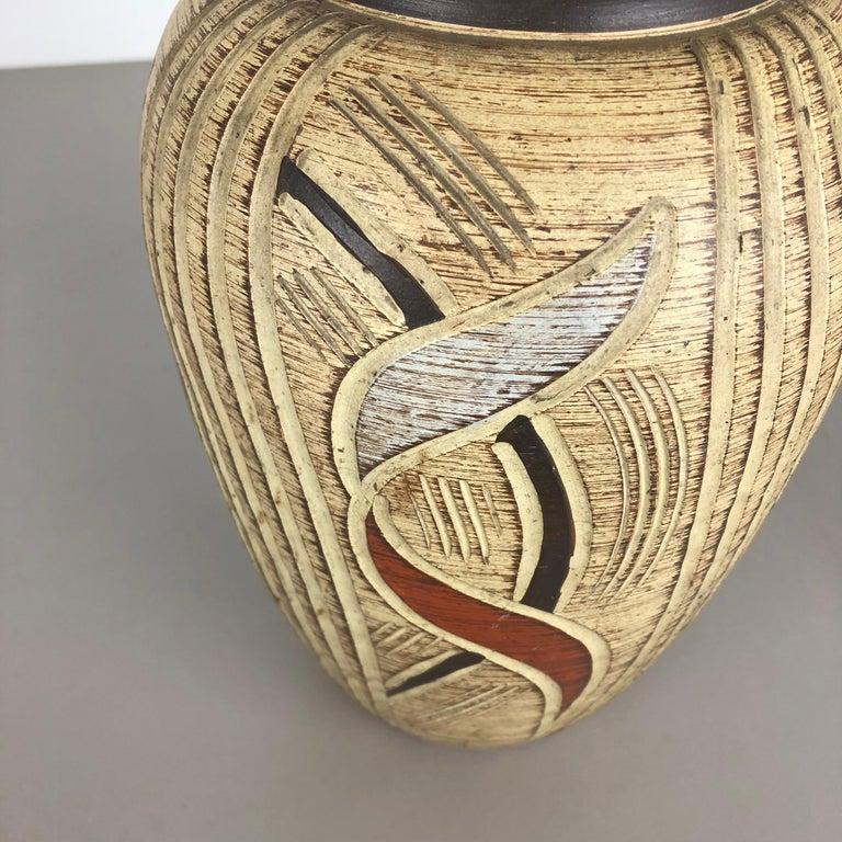 Multi-Color Ceramic Pottery Vase, Sawa Ceramic Franz Schwaderlapp, Germany 1960 For Sale 4