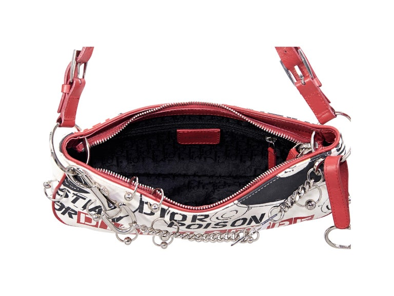 Beige Multicolor Christian Dior Printed Shoulder Bag