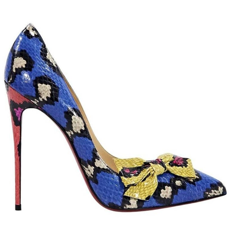 Multicolor Christian Louboutin Madame Menodo Pumps For Sale at 1stdibs c267720659fe