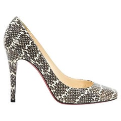 Multicolor Christian Louboutin Python Pumps