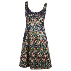 Multicolor Erdem Printed Silk Fit-and-Flare Dress