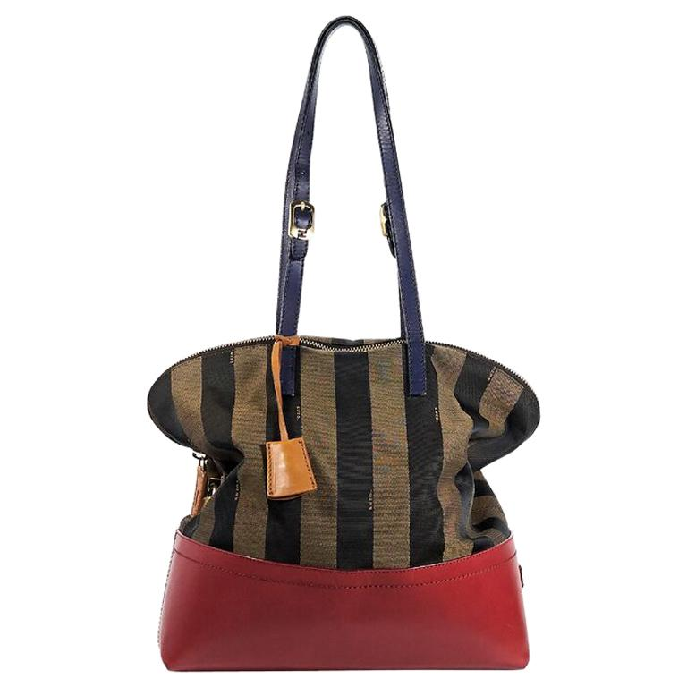 38d6e704a8aa Multicolor Fendi Striped Shoulder Bag For Sale at 1stdibs