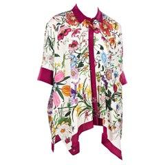 200cf7629 GUCCI Multicolor Silk SHIRT DRESS Long Sleeve at 1stdibs