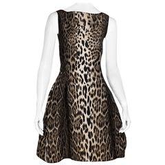 Lanvin Multicolor Cheetah-Printed Party Dress