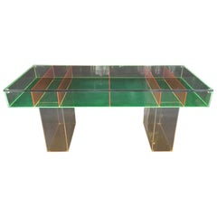 Multi-Color Lucite Coffee Table