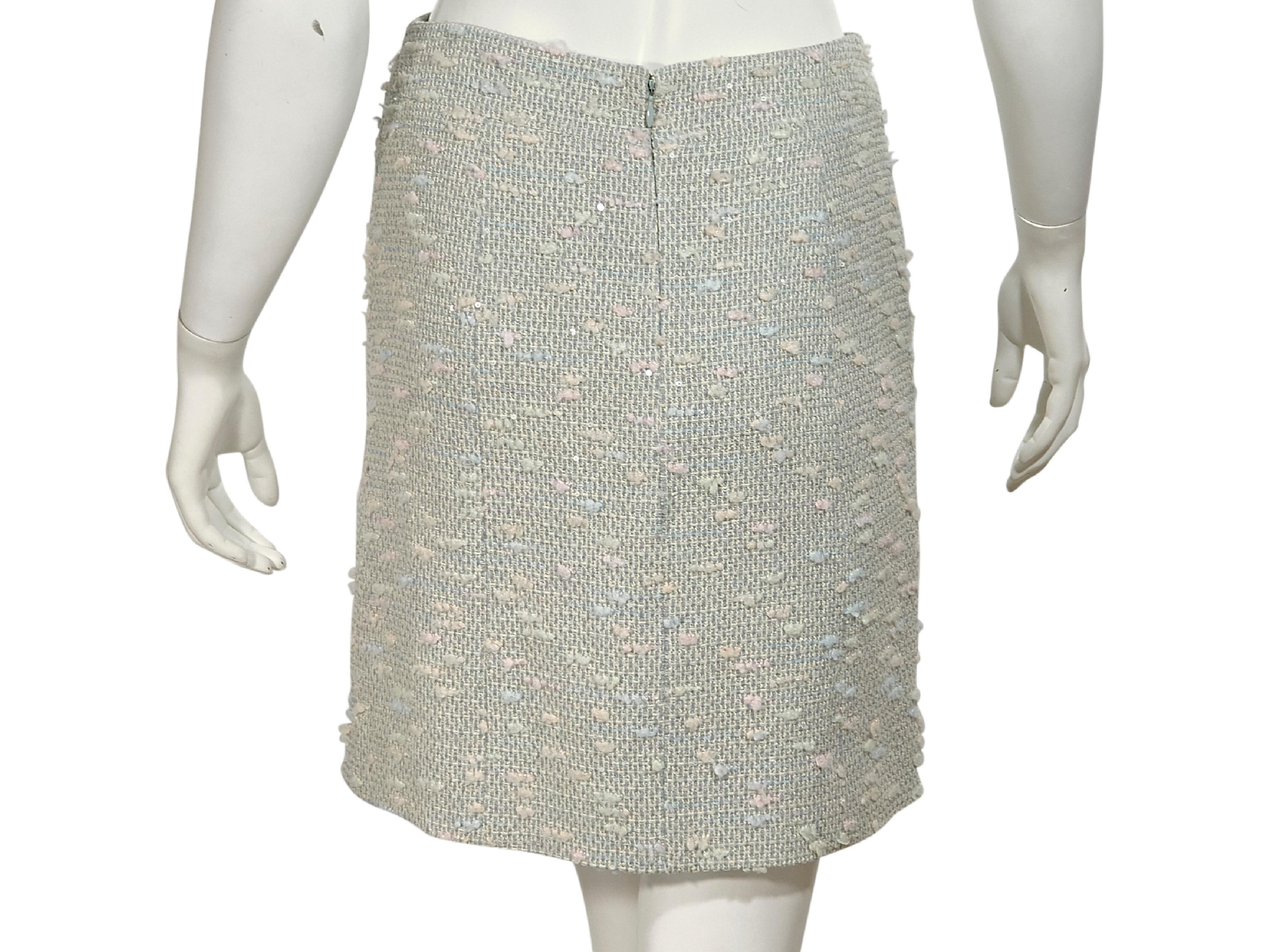 b42bbda0c1bf Multicolor Pastel Chanel Tweed Pencil Skirt For Sale at 1stdibs
