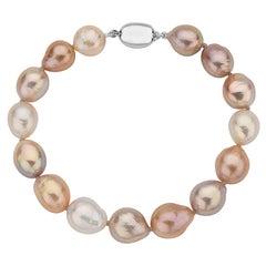 Multicolor Pink Freshwater Baroque Bracelet
