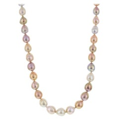 """Multicolor Pink Freshwater Baroque Pearl Necklace 18"""""""