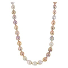 """Multicolor Pink Freshwater Baroque Pearl Necklace 24"""""""