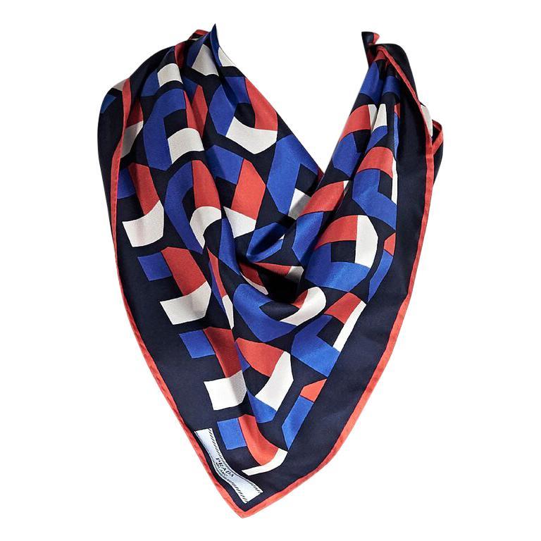 cea564b02d9 Multicolor Prada Geometric Silk Scarf For Sale at 1stdibs