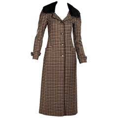 Multicolor Prada Houndstooth Coat