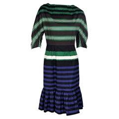 Prada Multicolor Striped Stretch-Cotton Dress