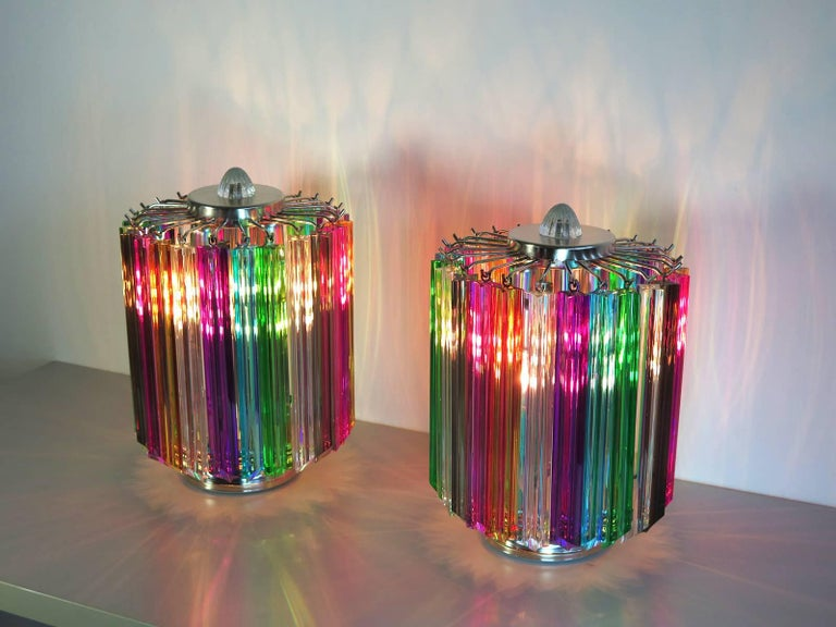 Multicolor Quadriedri Table Lamp, Mariangela Model 3