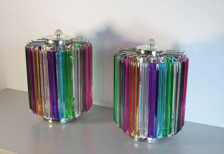 Mid-Century Modern Multicolor Quadriedri Table Lamp, Mariangela Model