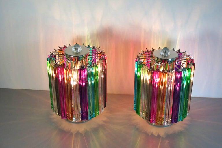 Late 20th Century Multicolor Quadriedri Table Lamp, Mariangela Model