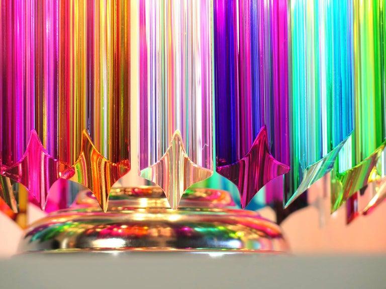 Blown Glass Multicolor Quadriedri Table Lamp, Mariangela Model