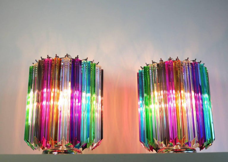 Multicolor Quadriedri Table Lamp, Mariangela Model 1