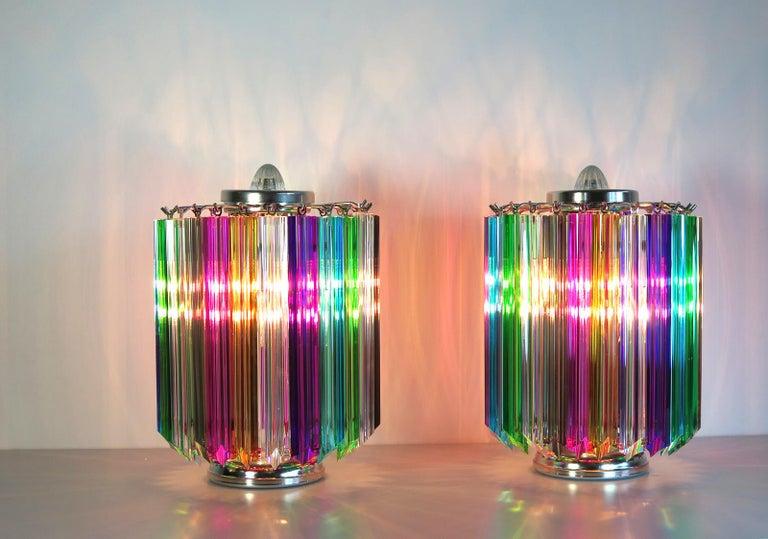 Multicolor Quadriedri Table Lamp, Mariangela Model For Sale 3