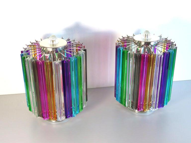 Italian Multicolor Quadriedri Table Lamp, Mariangela Model For Sale