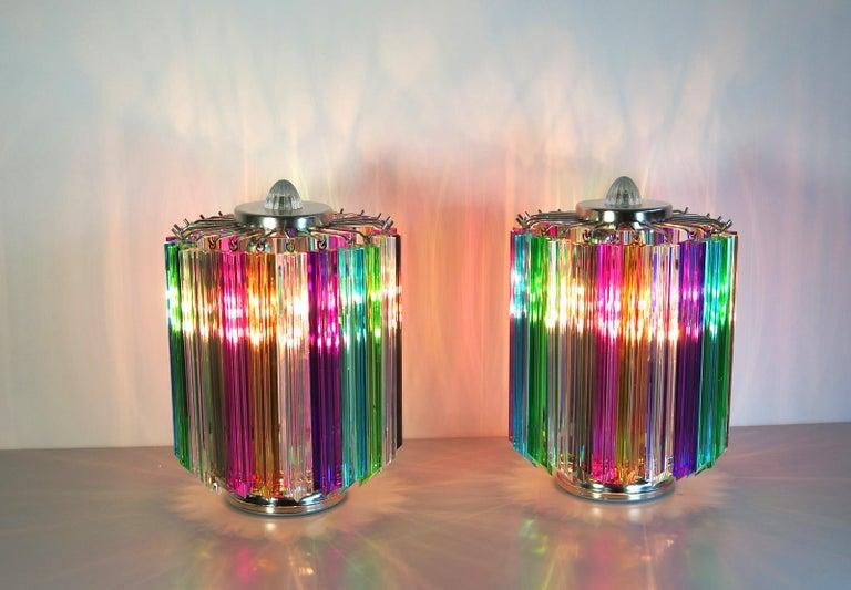 Multicolor Quadriedri Table Lamp, Mariangela Model For Sale 2