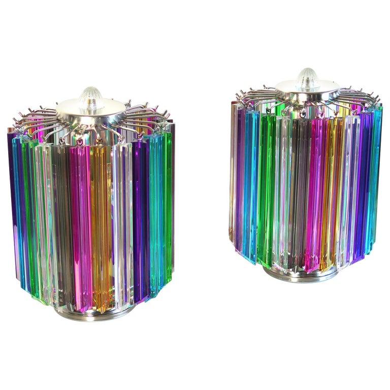 Multicolor Quadriedri Table Lamp, Mariangela Model For Sale