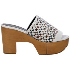 Multicolor Robert Clergerie Woven Platform Sandals