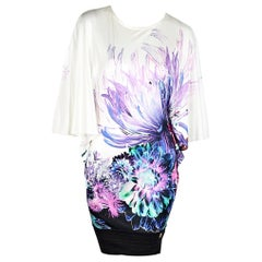Multicolor Roberto Cavalli Jersey Printed Mini Dress