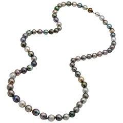 Multicolor Tahitian Baroque Necklace