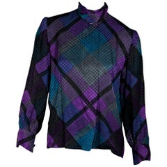 Multicolor Vintage Givenchy Printed Silk Blouse