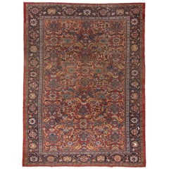 Multicolored Antique Mahal Rug