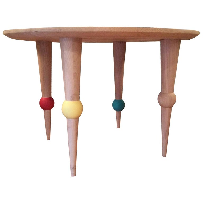Multicolored Ball Dining Table For Sale