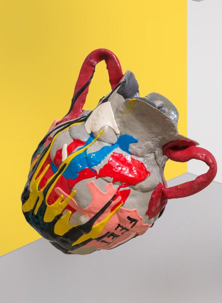 Mehrfarbige Zeitgenössische Schaum Vase 2
