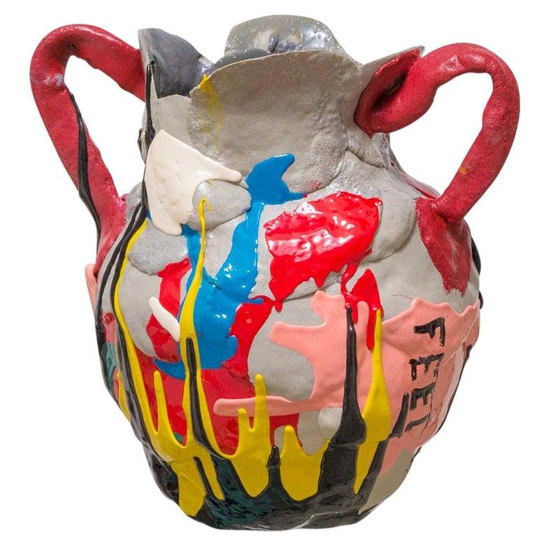 Mehrfarbige Zeitgenössische Schaum Vase 1