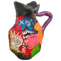 Multicolored Contemporary Foam Vase