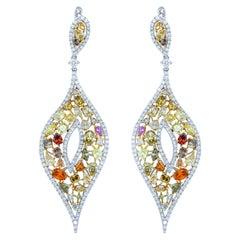 Multicolored Diamond Earrings