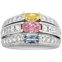 Multicolored Diamond Ring, 1.47 Carat