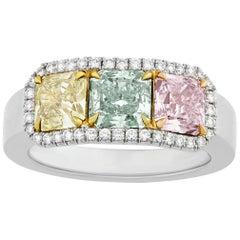Multicolored Diamond Ring, 2.56 Carat