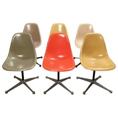Multicolored Fiberglass Shell Chairs, Charles Eames for Herman Miller