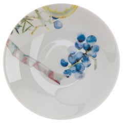 Multicolored French Limoges Porcelain Appetizer Plate, Exclusive Edition