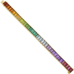 "Multicolored Gemstone ""Rainbow"" Bracelet"