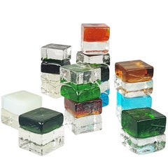 Multicolored Glass Paperweight by Giusto Toso for Fratelli Toso, 1961, Set of 12